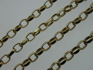 22-3-4-034-9-Ct-Yellow-Gold-Belcher-Solid-Chain-11-5-Grams-Thick-Links-Lobster-Claw