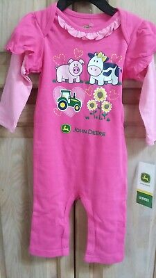 John Deere Tractor Long Sleeve Long One Piece-Baby Boy 3-6 months Locally Grown
