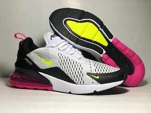 Details about Nike Air Max 270 White Volt Black Fuchsia AH8050-109 Running  Shoes Men's NEW