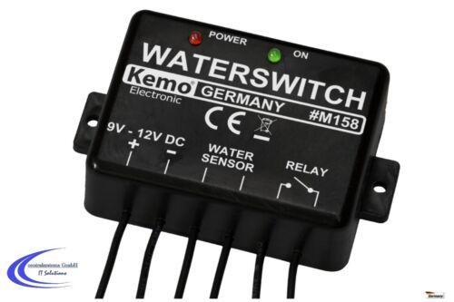 Wasser Füllstand Alarm Melder Sensor Kemo M158 Wassermelder 9-12 V DC