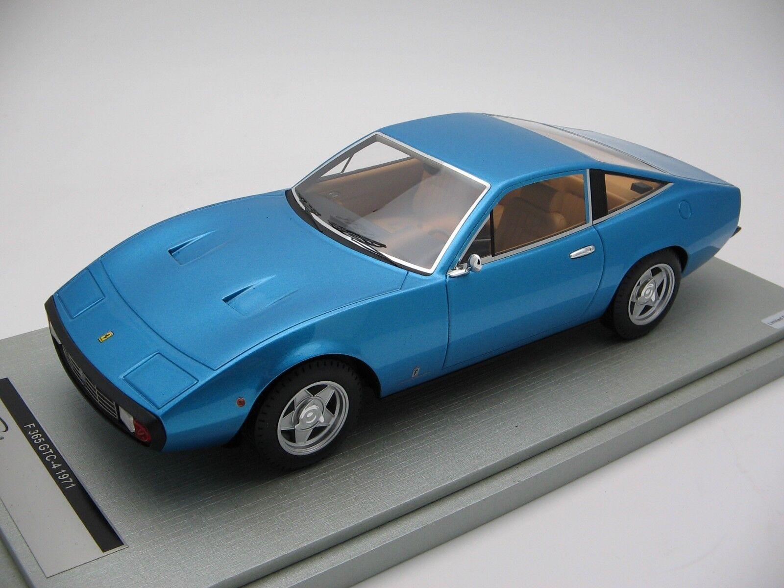 1 18 scale Tecnomodel Ferrari 365 GTC-4 Azzurro California 1971 - TM18-92C
