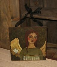 ANGEL SIGN Picture*Message Board*Primitive/French Country Garden Room Wall Decor