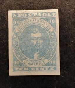 Confederate States of America #2 mint hinged Cat. Value $275 #459