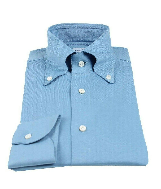 Artigiani Napoli handmade button down shirt 45 (US 18) shirtmaker Kiton