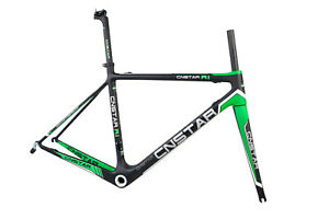 52cm-Carbon-Road-Bike-Frame-Fork-Seatpost-700C-Race-Bicycle-Green-yellow-red-BSA