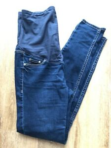 a822f27844e23 Image is loading Maternity-skiny-jeans-size-M-40-blue-H-