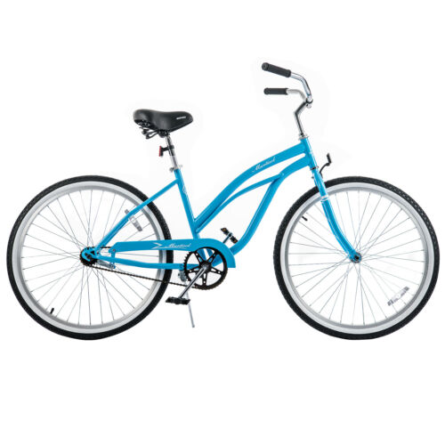 "26/"" Girl/'s City Road Bicycle Classic Beach Cruiser Bike Single Speed Lightweight"