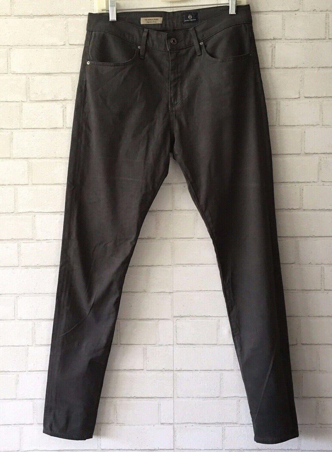 AG Adriano goldschmied The Farrah Modal Blend Dark Grey Skinny Pants Size 30R
