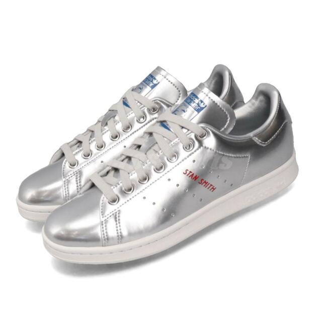 adidas Originals Stan Smith Silver Metallic Mens Womens Casual Shoes FW5363