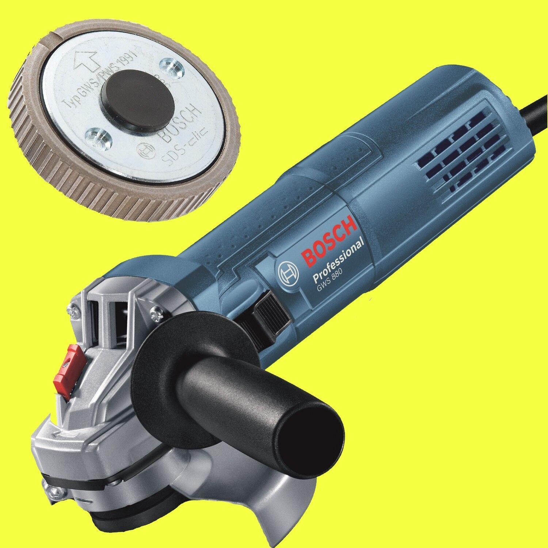 BOSCH Winkelschleifer GWS 880 125 mm + Bosch SDS Clic Schnellspannmutter