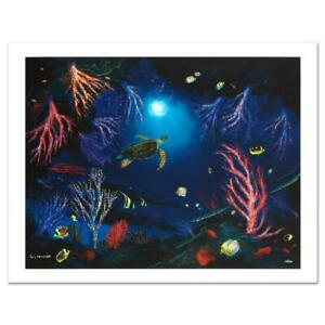 Wyland-034-Coral-Reef-Garden-034-Signed-Canvas-Limited-Edition-Art-COA