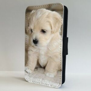 White-Havanese-Puppy-Dog-FLIP-PHONE-CASE-COVER-for-IPHONE-SAMSUNG