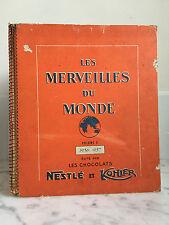Les merveilles du monde Volume 3 1956-1957  Nestlé et Kohler Incomplets