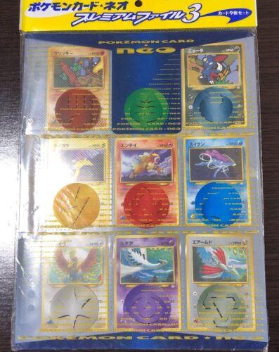 NEW Pokemon Card Neo Premium File 3 Japanese Japan Very Rare