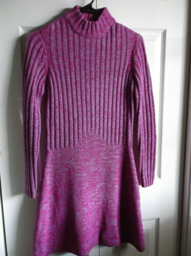Roncelli Vintage 60s sz M Pink Blue Wool Boucle Mo
