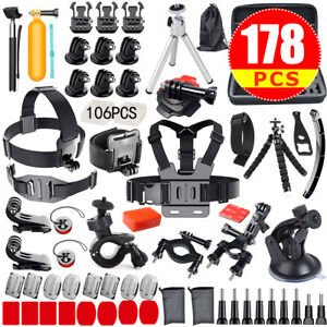 Accessories-Pack-Head-Chest-Monopod-Bike-Surf-Mount-for-GoPro-Hero-6-5-4-3-3-2