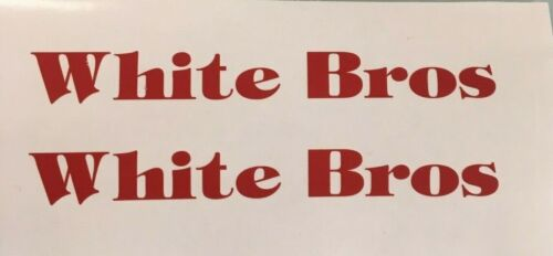 White Bros Swingarm Decals Diecut Red Swingarm ATC250R ATC QuadRacer KXT250