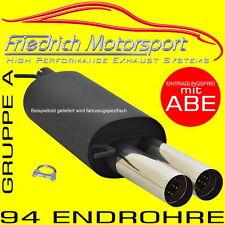 FRIEDRICH MOTORSPORT SPORTAUSPUFF VW Golf 4 1.4 bis 2.3 V5 mit Jubi-GTI-Heck