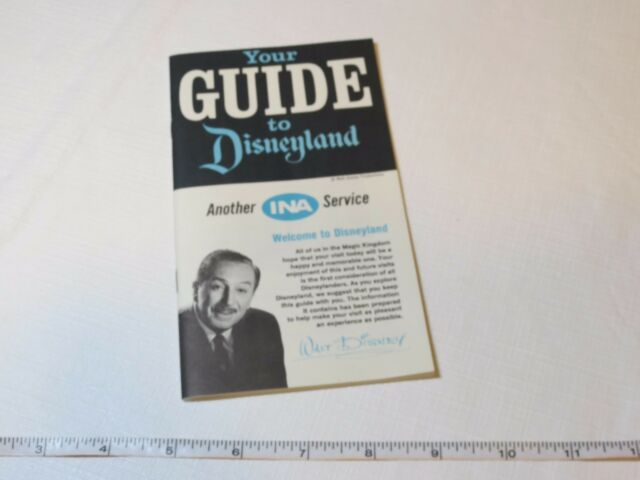 Your Guide to Disneyland INA booklet VINTAGE Theme park guide maps shops RARE
