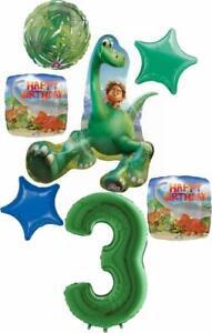 The Good Dinosaur Party Supplies 3rd Birthday Arlo and Spot Balloon Bouquet D...