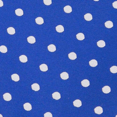 DQT Woven Polka Dot Royal Blue Formal Casual Mens Classic Tie