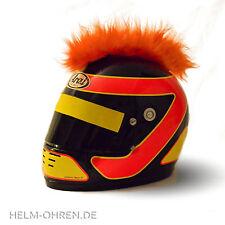 Helmirokese/ Helm Punk Deko Iro/ Irokese/ Helmaufsatz -für Motorradhelm - Orange