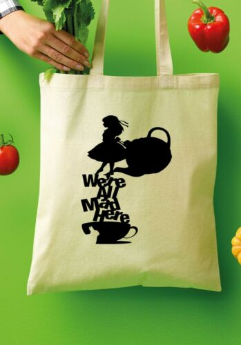 Disney Alice in Wonderland Tote Shopper Bags 100/% Cotton Canvas Grocery Bag 375