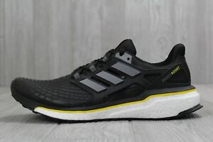 2264e71c7 33 New Adidas Energy Boost Black-White-Yellow Men s Shoes 9.5 11.5 M ...