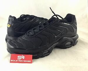 New NIKE AIR MAX PLUS TN Triple Black Shoes 604133-050 95 Tuned Air ... f9085bf53d72