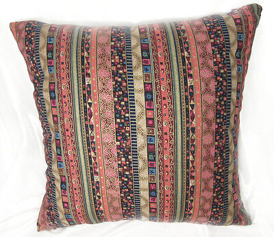 EA Soft Pure Cotton Oriental Stripe Flower Pattern Cushion Cover/Pillow Case