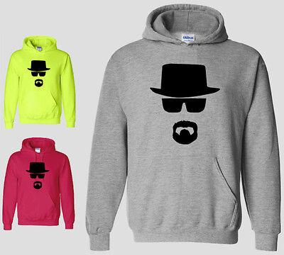 Heisenberg Hoodie Breaking Bad Walter White Cook Meth Funny Burg Sweatshirt NEON