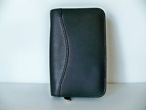 Black-Top-Grain-Leather-Mobile-Cell-Phone-Case-Zippered-Portfolio-Wallet