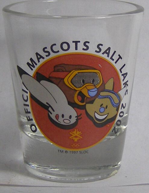 Official Mascots Salt Lake 2002 Shot Glass #2716