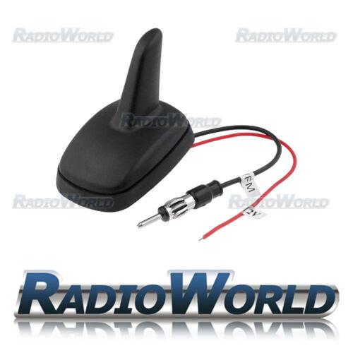 FM//AM coche Antena Tiburón Fin estilo Amplificado Antena Din Universal OEM