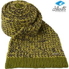 CHILLOUTS Gizmo scarf  Damen Strick Winterschal wärmende in Zitronen Grün/Grau