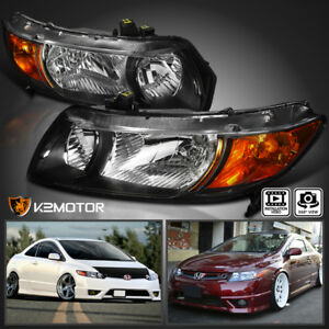 Image Is Loading 2006 2011 For Honda Civic Coupe 2Dr Headlights