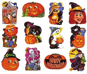 Details About Party Time 2 Sets Of 12 Pcs Halloween Cutouts Cutouts (16 In.  To 18 In.)