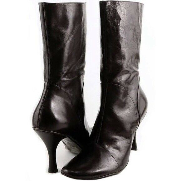 Kenneth Cole 'Sweet as Candy' Black Patent Leather Heel Boots • Women's Size 7.5