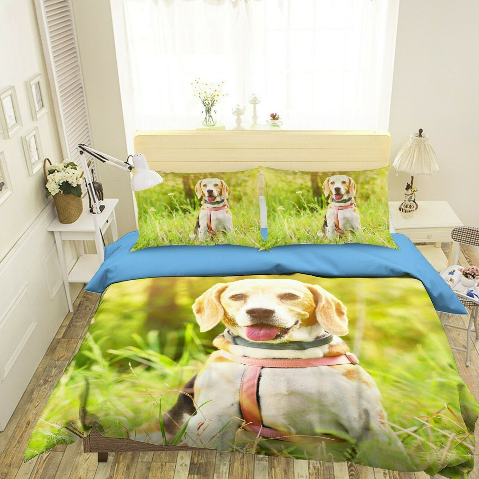 3D Labrador N51 Animal Bett Pillowcases Quilt Duvet Startseite Königin König Amy