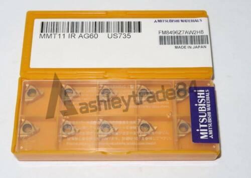 10PCS New MITSUBISHI MMT 11IR AG60 US735 Carbide Threading Inserts MMT11IR AG60