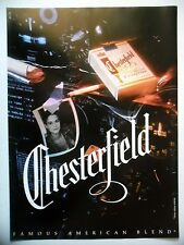 PUBLICITE-ADVERTISING :  CHESTERFIELD  1990 Cigarettes