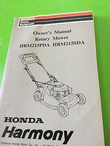 honda harmony owners manual rotary mower hrm215 pda and hrm215 sta rh ebay com Honda Harmony HRM 215 honda harmony hrm215 parts manual