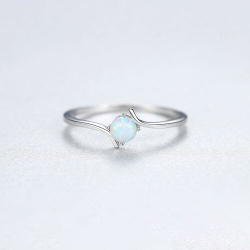 Elegant Real 925 Silver Temperament Stylish Opal Rings Gift for Women Jewelry
