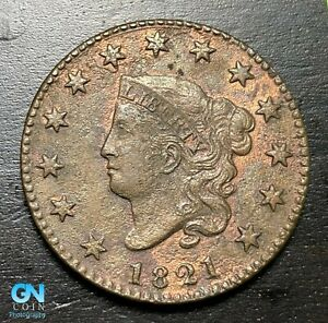1821-Coronet-Head-Large-Cent-MAKE-US-AN-OFFER-B6331
