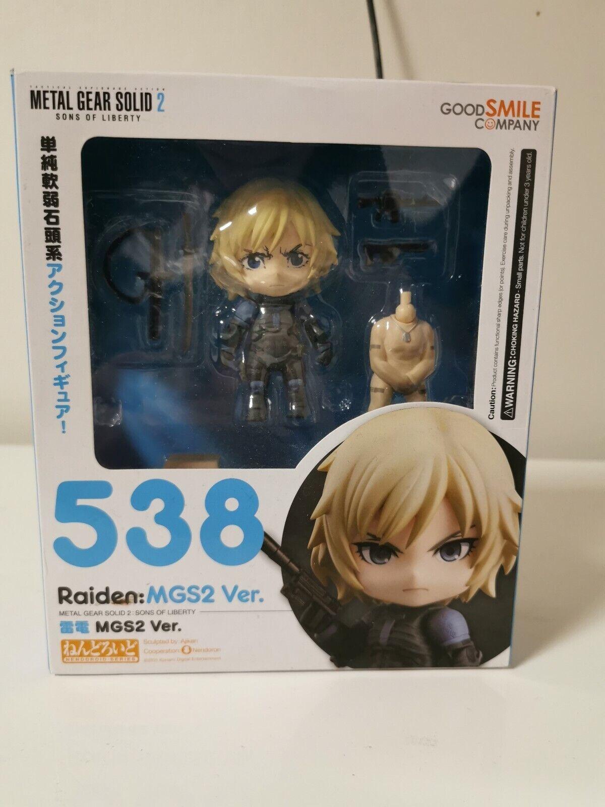 Nouveau Nendoroid 538 Metal Gear Solid 2 Raiden Mgs2 Ver. Figurine de Japon