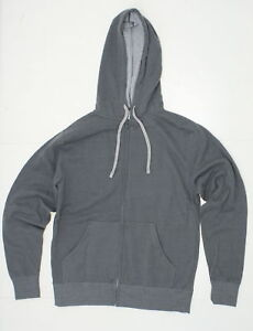 nEW-Independent-Trading-Mens-Full-Zip-Deluxe-Hooded-Sweatshirt-Grey-Small-03968