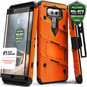 separation shoes 66f8b a37d5 Details about For LG V20 Case Cover Tempered Glass Kickstand Holster Armor  FLAGSHIP