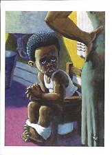 African American Vintage Art Print Boy Potty Training Mini 5X7 Size