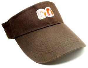 1 Dunkin Donuts DD visor Hat Brown one size fits all adjustable NEW