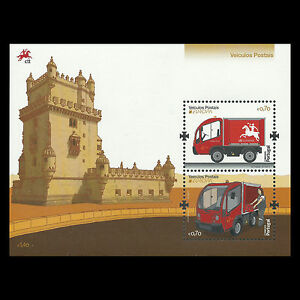 Portugal-2013-Europa-2013-034-Postal-Vehicle-034-Truck-S-S-Sc-3514-MNH